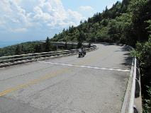 Motorcycle on Linn Cove Viaduct