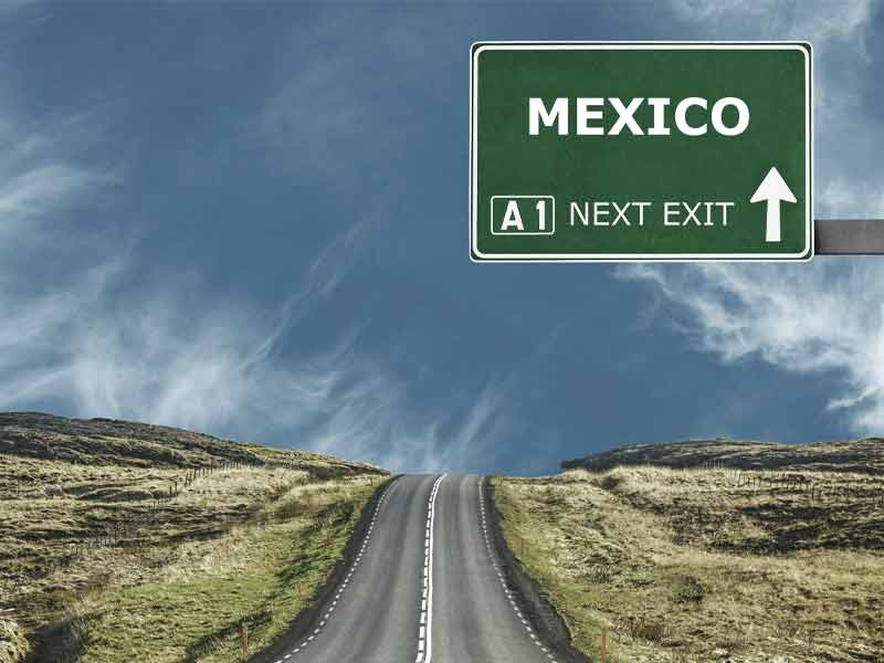 Mexico road sign
