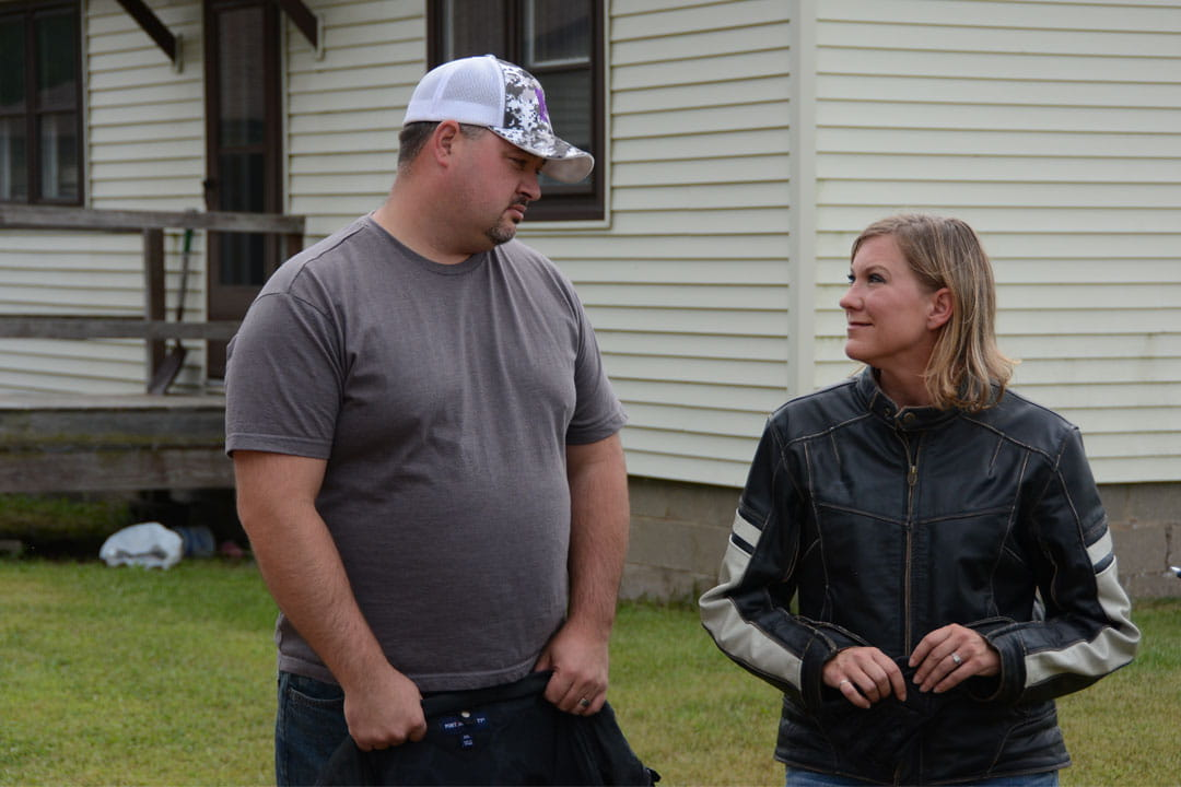 Motorcycle Rider DeAnna DeCaluwe and Husband