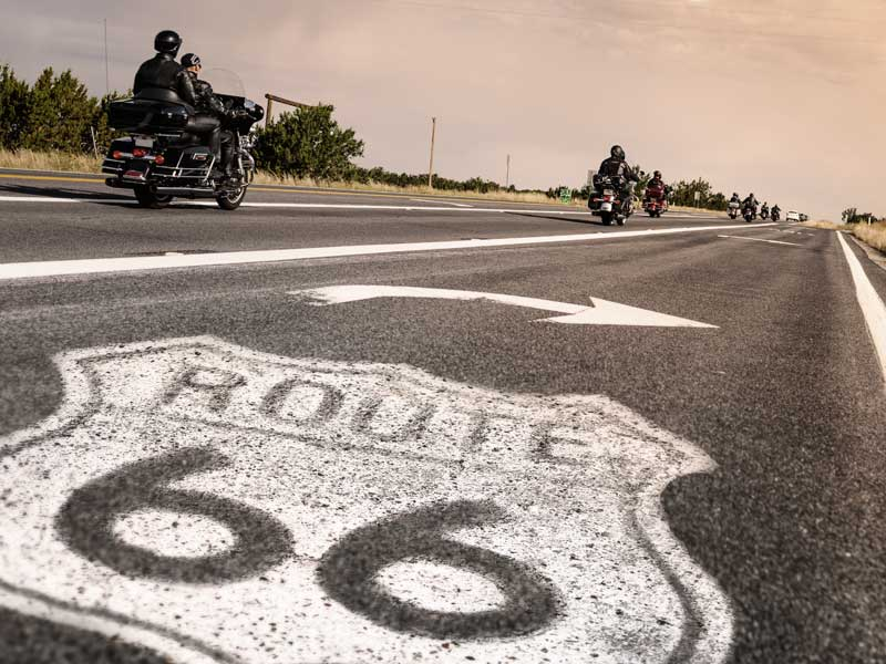 Motorcycles on route 66