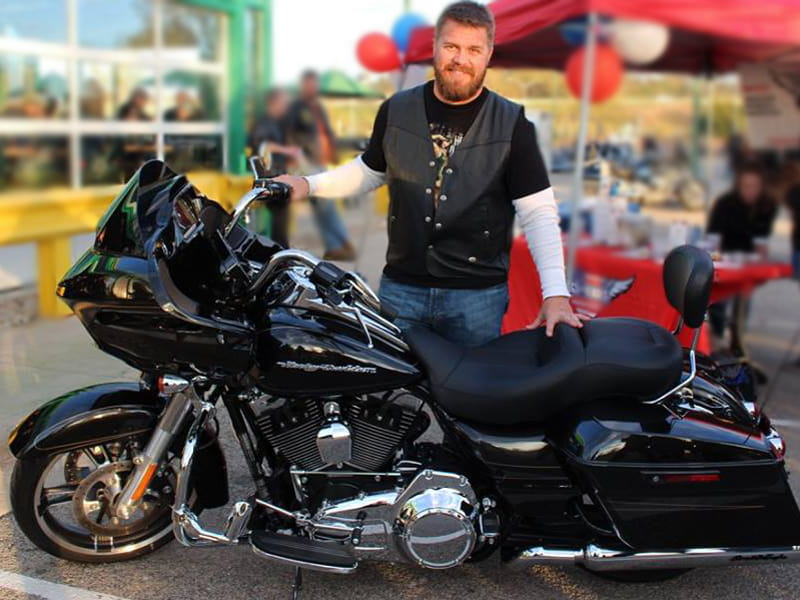 Scott Krutchen with Hogs for Heroes Motorcycle